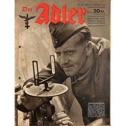0746	 DER ADLER	 -No.	22	-1943	 vintage German Luftwaffe Magazine Air Force WW2 WWII