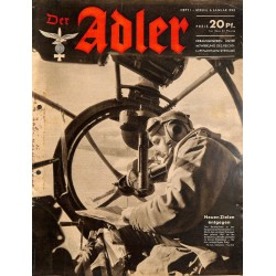 0747	 DER ADLER	 -No.	1	-1942	 vintage German Luftwaffe Magazine Air Force WW2 WWII