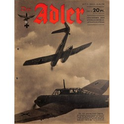 0751	 DER ADLER	 -No.	11	-1942	 vintage German Luftwaffe Magazine Air Force WW2 WWII