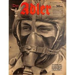 0752 DER ADLER -No.12-1942 vintage German Luftwaffe Magazine Air Force WW2 WWII