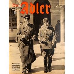 0753 DER ADLER -No.13-1942 vintage German Luftwaffe Magazine Air Force WW2 WWII
