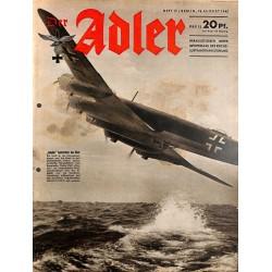 0754 DER ADLER -No.17-1942 vintage German Luftwaffe Magazine Air Force WW2 WWII
