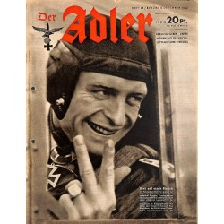 0756	 DER ADLER	 -No.	25	-1942	 vintage German Luftwaffe Magazine Air Force WW2 WWII