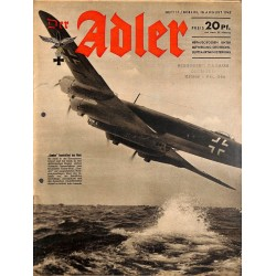 0759	 DER ADLER	 -No.	17	-1942	 vintage German Luftwaffe Magazine Air Force WW2 WWII