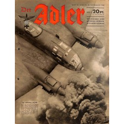 0761	 DER ADLER	 -No.	24	-1942	 vintage German Luftwaffe Magazine Air Force WW2 WWII