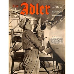 0769	 DER ADLER	 -No.	6	-1943	 vintage German Luftwaffe Magazine Air Force WW2 WWII