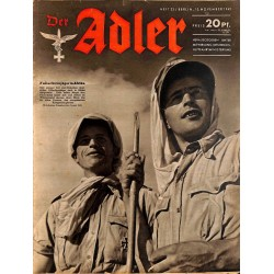 0773	 DER ADLER	 -No.	23	-1942	 vintage German Luftwaffe Magazine Air Force WW2 WWII