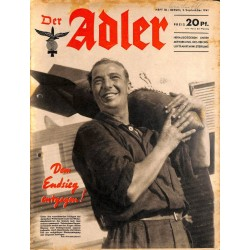 0774	 DER ADLER	 -No.	18	-1941	 vintage German Luftwaffe Magazine Air Force WW2 WWII