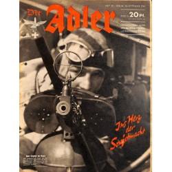 0776 DER ADLER -No.20-1941 vintage German Luftwaffe Magazine Air Force WW2 WWII