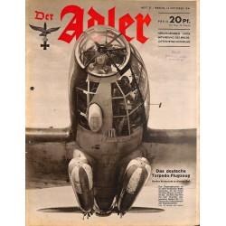 0777 DER ADLER -No.21-1941 vintage German Luftwaffe Magazine Air Force WW2 WWII