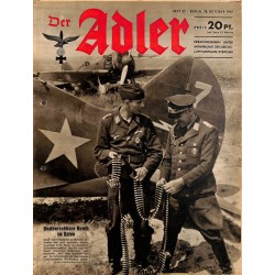 0778	 DER ADLER	 -No.	22	-1941	 vintage German Luftwaffe Magazine Air Force WW2 WWII