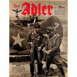 0778 DER ADLER -No.22-1941 vintage German Luftwaffe Magazine Air Force WW2 WWII