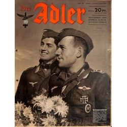 0782	 DER ADLER	 -No.	26	-1941	 vintage German Luftwaffe Magazine Air Force WW2 WWII
