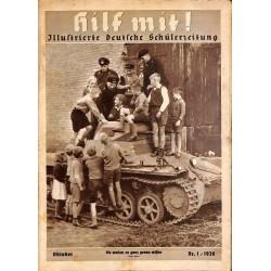 5161 Hilf mit ! - No. 1-1938 OktoberHilf mit ! Illustrierte deutsche Schülerzeitung - vintage german school magazines, 32
