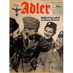 0783	 DER ADLER	 -No.	4	-1941	 vintage German Luftwaffe Magazine Air Force WW2 WWII