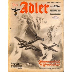 0785	 DER ADLER	 -No.	10	-1941	 vintage German Luftwaffe Magazine Air Force WW2 WWII