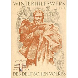 5244	 WHW sticker	 1938/1939 Januar collecting clothes	Winterhilfswerk Third Reich collection