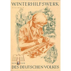 5245	 WHW sticker	 1938/1939 Dezember making small presents	Winterhilfswerk Third Reich collection