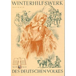5246	 WHW sticker	 1938/1939 Oktober harvest	Winterhilfswerk Third Reich collection