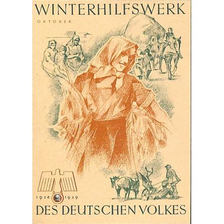 5246 WHW sticker 1938/1939 Oktober harvestWinterhilfswerk Third Reich collection