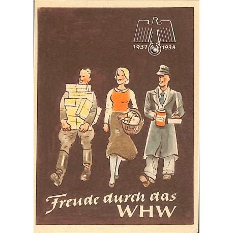 5249 WHW sticker 1937/1937 Freude durch das WHWWinterhilfswerk Third Reich collection