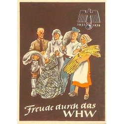 5250	 WHW sticker	 1937/1937 Freude durch das WHW	Winterhilfswerk Third Reich collection