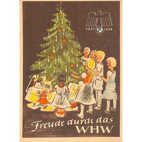 5251 WHW sticker 1937/1937 Freude durch das WHWWinterhilfswerk Third Reich collection