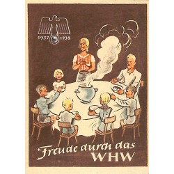 5252	 WHW sticker	 1937/1937 Freude durch das WHW	Winterhilfswerk Third Reich collection