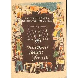 5254 WHW sticker 1937/1938 Dein Opfer schafft Freude Winterhilfswerk Third Reich collection