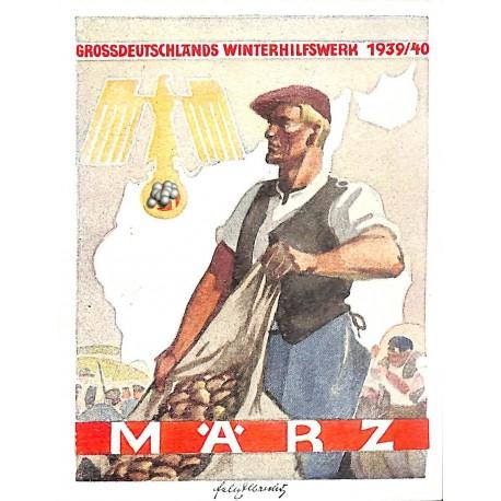 5255 WHW sticker 1939/1940 März Grossdeutsches Winterhilfswerk Third Reich collection