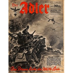 0789	 DER ADLER	 -No.	17	-1941	 vintage German Luftwaffe Magazine Air Force WW2 WWII