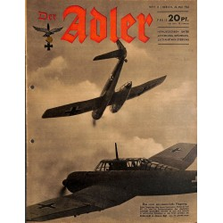 0790	 DER ADLER	 -No.	11	-1942	 vintage German Luftwaffe Magazine Air Force WW2 WWII