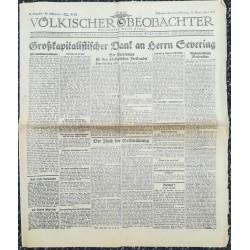 10740 Kampfzeit VÖLKISCHER BEOBACHTER No. 54 31.Mai/1.Juni 1925 Großkapitalistischer Dank an Herrn Severing, Rassenfrage