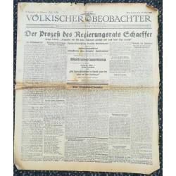 10738 Kampfzeit VÖLKISCHER BEOBACHTER No. 52 29.Mai 1925 Der Prozeß des Regierungsrats chaeffer, Massenversammlung