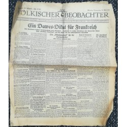 """10737 Kampfzeit VÖLKISCHER BEOBACHTER No. 51 28.Mai 1925 Ein Dawes-Diktat für Frankreich, Artikel """"Mein Kampf"""" Gewerkschaft"""