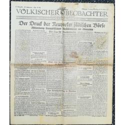10736 Kampfzeit VÖLKISCHER BEOBACHTER No. 43 17./18. Mai 1925 Der Druck der Neuyorker jüdischen Börse, Abtretung