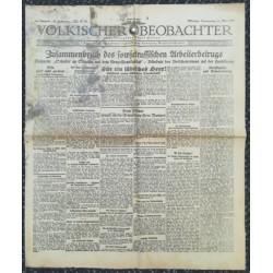 10733 Kampfzeit VÖLKISCHER BEOBACHTER No. 40 14.Mai 1925 Zusammenrbuch des sowjetrussischen Arbeitsbetrugs, Für ein jüdische