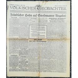 10734 Kampfzeit VÖLKISCHER BEOBACHTER No. 41 15.Mai 1925 Feindlicher Hohn auf Stresemanns Angebot, Die Angst vor dem Weltpro