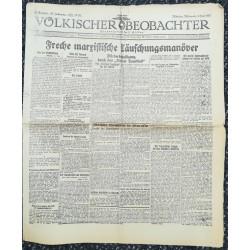 10741 Kampfzeit VÖLKISCHER BEOBACHTER No. 55 3.Juni 1925 Freche marxistische Mannöver