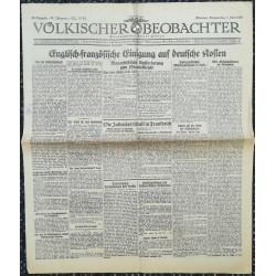 10742 Kampfzeit VÖLKISCHER BEOBACHTER No. 56 4. Juni 1925 Englisch-Französische Einigung auf deutsche Kosten