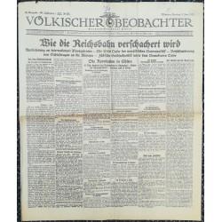 10743 Kampfzeit VÖLKISCHER BEOBACHTER No. 57 5.Juni 1925 Wie die Reichsbahn verschachert wurde. Jüdische Geldsackpolitik