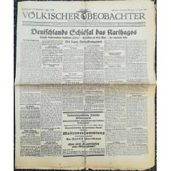 10745 Kampfzeit VÖLKISCHER BEOBACHTER No. 59 7./8. Juni 1925 Deutschlands Schicksals das Karthagos.