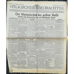 10746 Kampfzeit VÖLKISCHER BEOBACHTER No. 60 9.Juni 1925 Der Europäerhass der gelben Rasse
