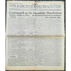 10747 Kampfzeit VÖLKISCHER BEOBACHTER No. 61 10.Juni 1925 Hauptangriffe auf die französische Marokkofront