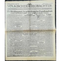 10749 Kampfzeit VÖLKISCHER BEOBACHTER No. 63 13.Juni 1925 Die Abrüstungsnote, der größte Erfolg der Sozialdemokratie