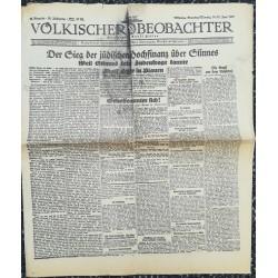 10750 Kampfzeit VÖLKISCHER BEOBACHTER No. 64 14./15.Juni 1925 Der Sieg über die jüdische Hochfinanz über Stinnes