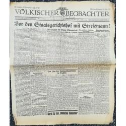 10751 Kampfzeit VÖLKISCHER BEOBACHTER No. 65 16.Juni 1925 Vor dem Staatsgerichtshof mit Stresemann
