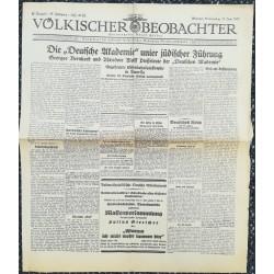 10753 Kampfzeit VÖLKISCHER BEOBACHTER No. 67 18.Juni 1925 Die deutsche Akademie unter jüdischer Führung