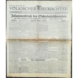 10755 Kampfzeit VÖLKISCHER BEOBACHTER No. 69 20.Juni 1925 Zusammenbruch des Sicherheitsschwindels