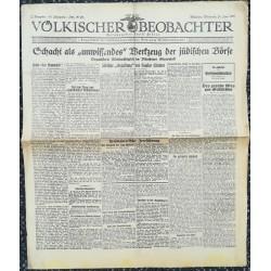 """10758 Kampfzeit VÖLKISCHER BEOBACHTER No. 72 24.Juni 1925 Schacht als """"unwissendes"""" Werkzeug der jüdischen Börse"""